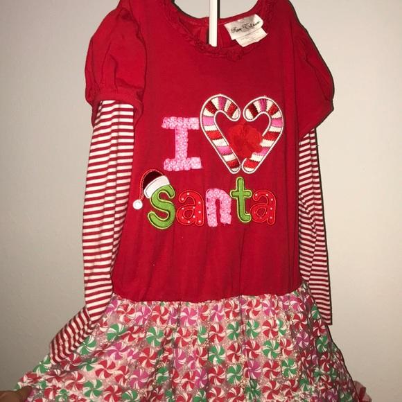Rare Editions Dresses New I Heart Santa Christmas Dress With Leggings Poshmark